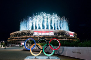 <>during the Opening Ceremony of the Tokyo 2020 Olympic Games at Olympic Stadium on July 23, 2021 in Tokyo, Japan.